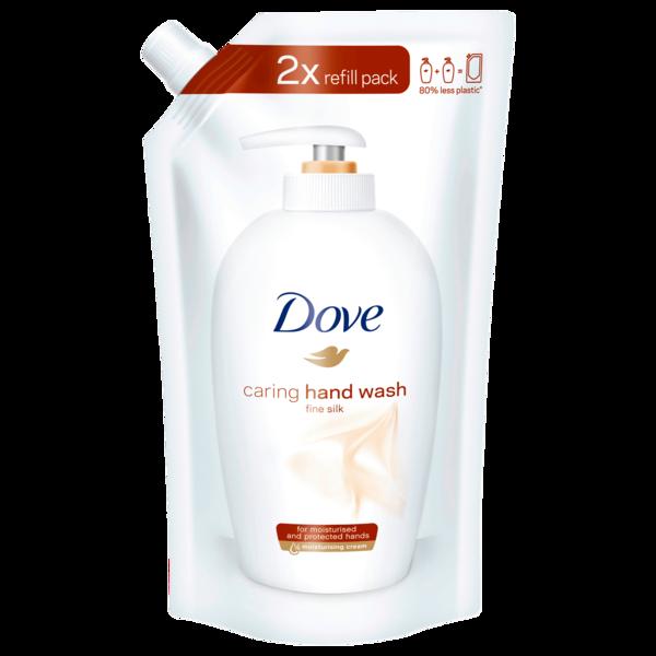 Dove Seife Pflegende Hand-Waschlotion fine silk Nachfüllbeutel 500 ml