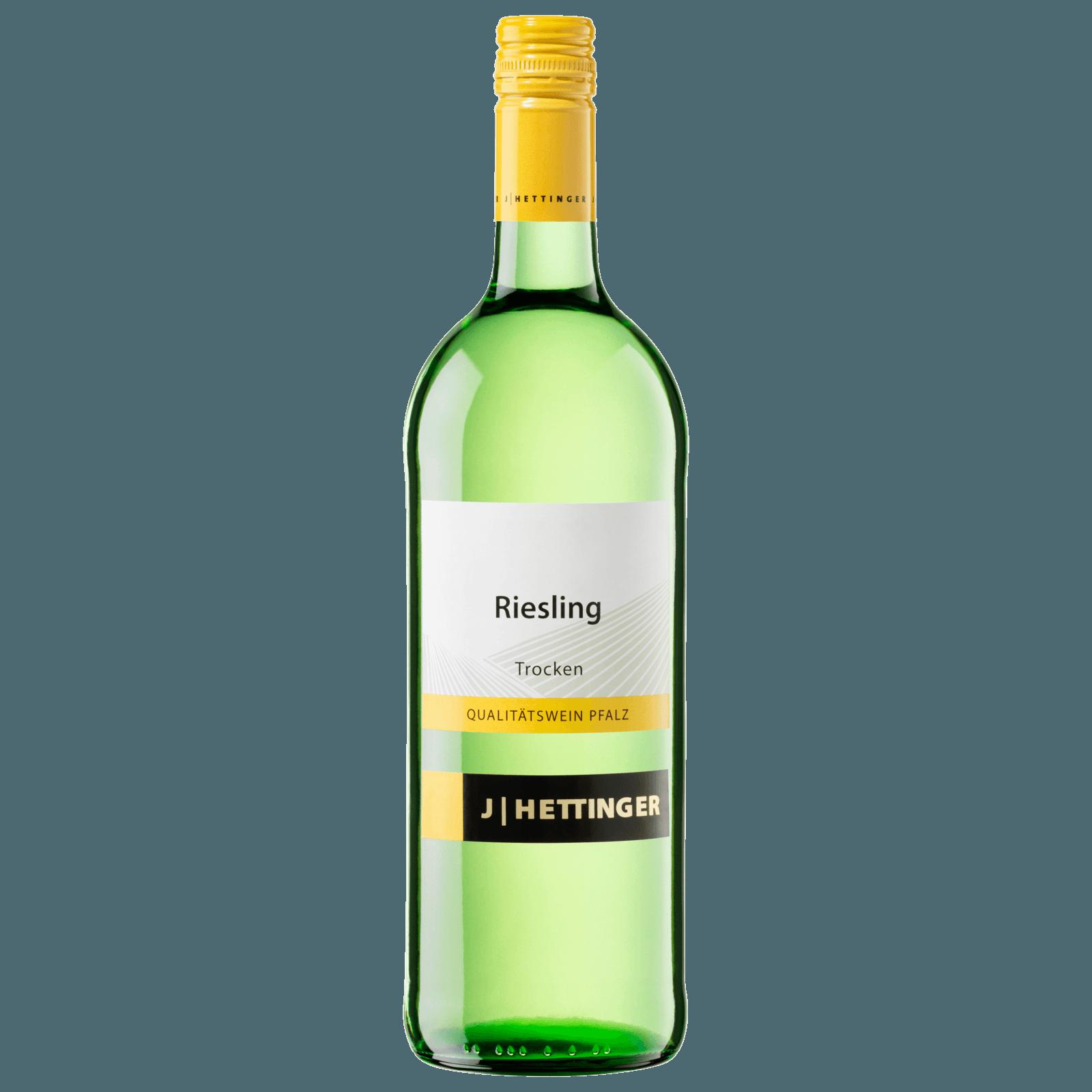 J   Hettinger Riesling Pfalz QbA trocken 1l
