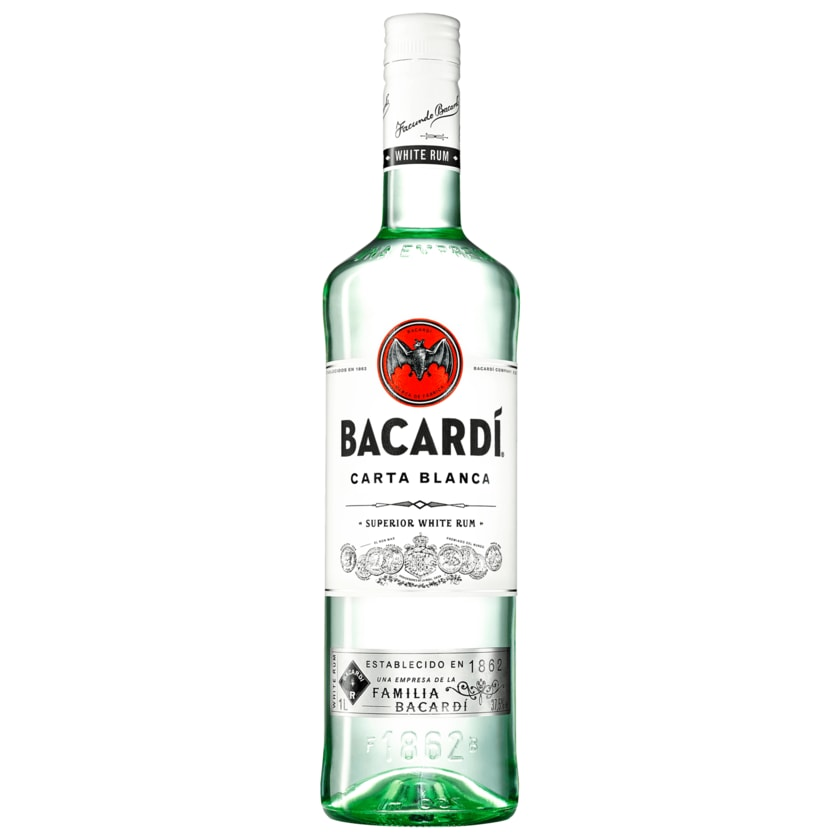 Bacardi Carta Blanca Rum 1l
