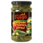 Fuego Jalapeño Green Peppers sliced 125g