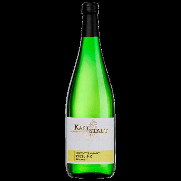 Winzergenossenschaft Kallstadt Weißwein Kobnert Riesling trocken 1l