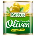 Kattus große Oliven mit Zitronen-Creme 85g