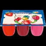 Danone Fruchtzwerge Erdbeere, Kirsche, Himbeere 6x50g