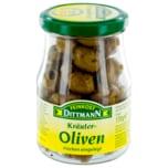Feinkost Dittmann Kräuter-Oliven trocken eingelegt 170g