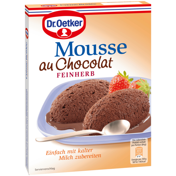 Dr. Oetker Mousse au Chocolat feinherb 86g