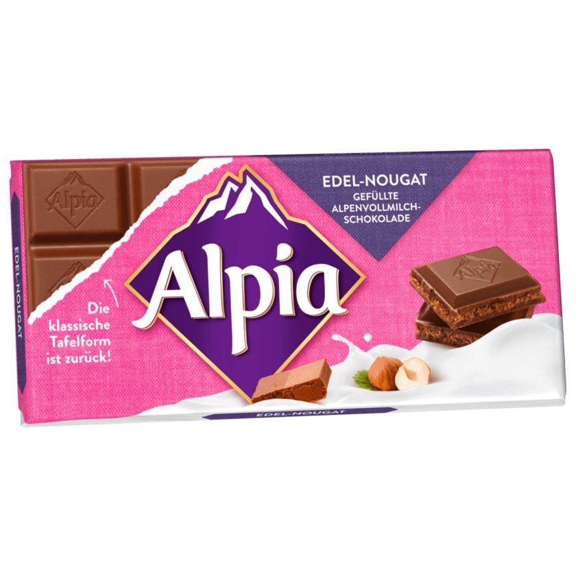 Alpia Schokolade Edel-Nougat 100g