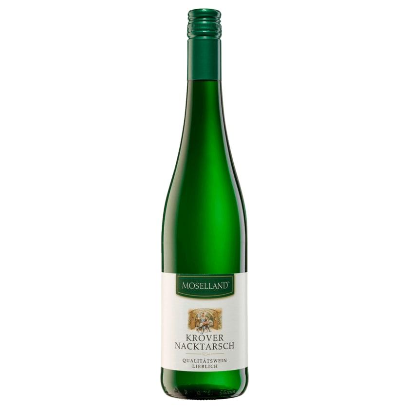 Moselland Weißwein Kröver Nacktarsch Qualitätswein lieblich 0,75l