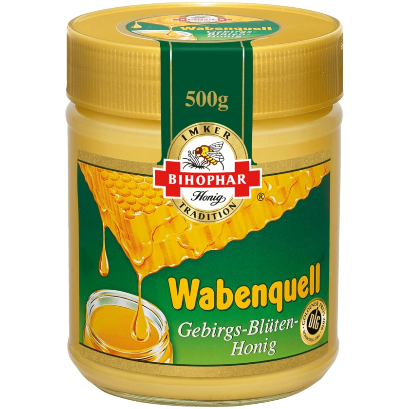 Bihophar Wabenquell Gebirgsblüten-Honig 500g