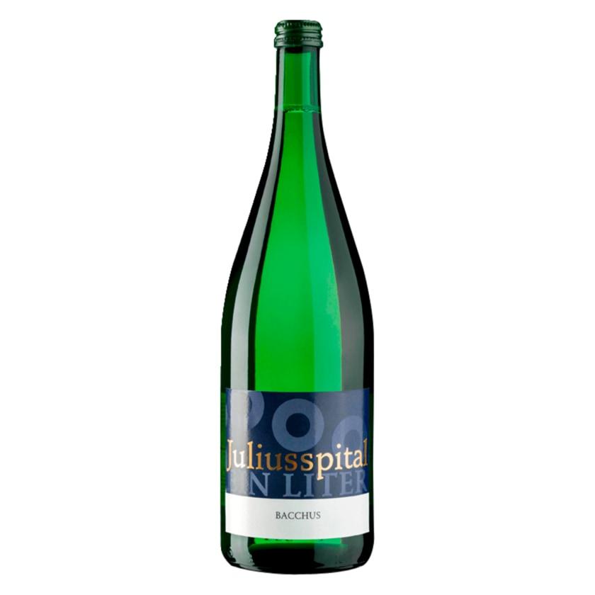 Juliusspital Weißwein Bacchus Qualitätswein halbtrocken 1l
