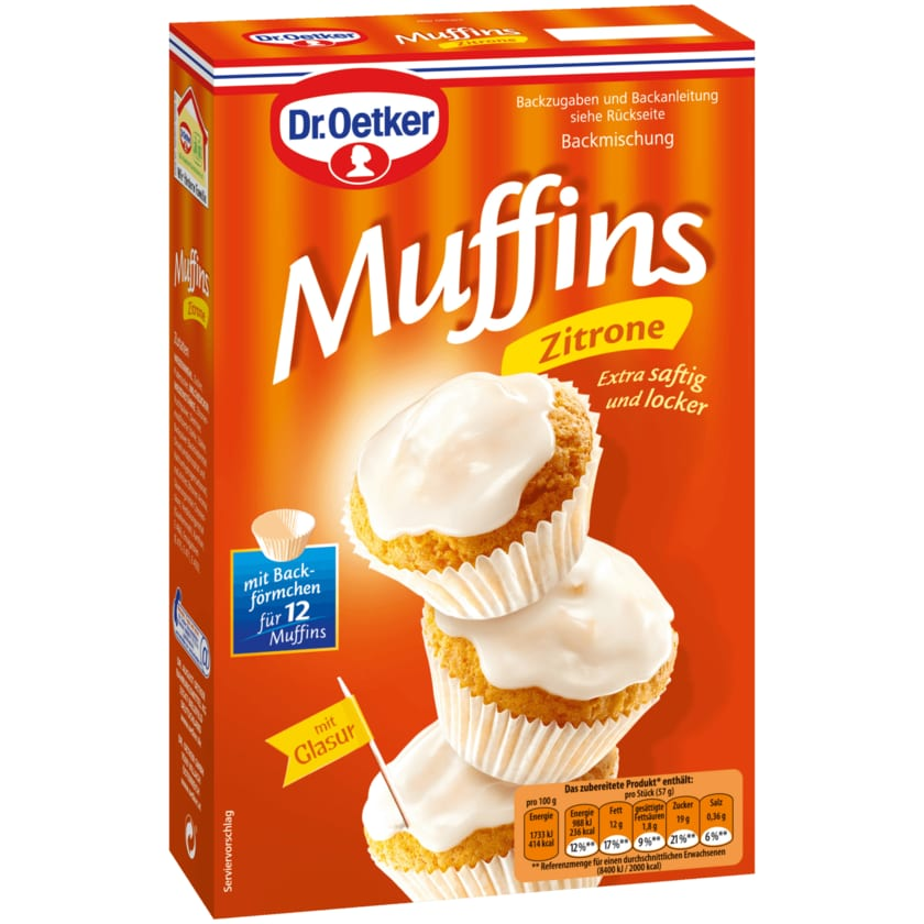 Dr. Oetker Zitronen-Muffins 415g