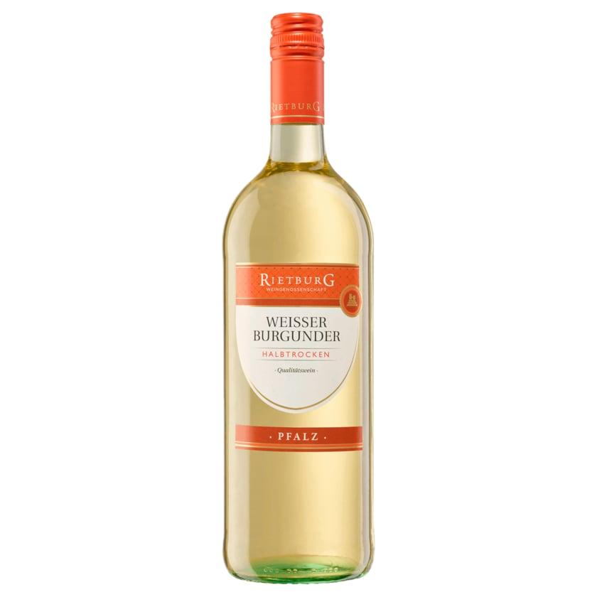 Rietburg Weißwein Weißer Burgunder QbA halbtrocken 1l