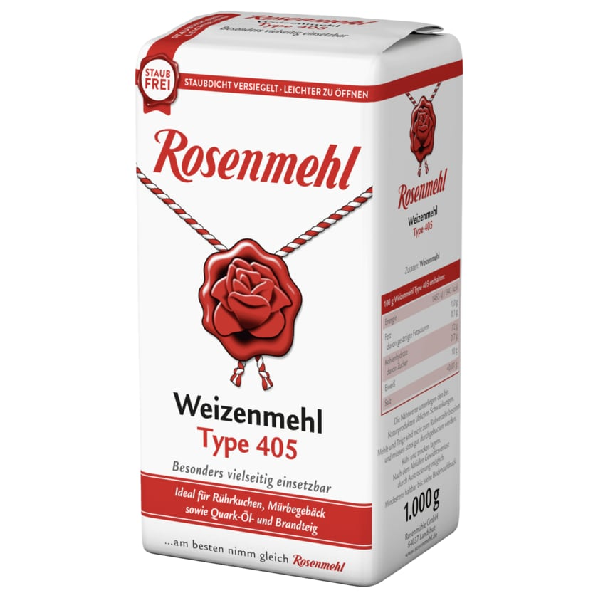 Rosenmehl Weizenmehl Type 405 1kg