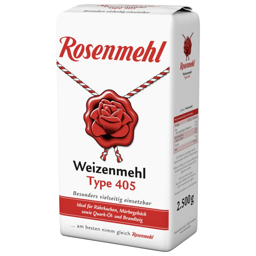 Rosenmehl Weizenmehl Type 405 2,5kg