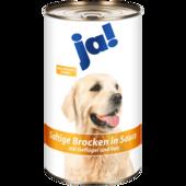 ja! Hundefutter Saftige Brocken in Sauce mit Geflügel & Reis 1,24kg