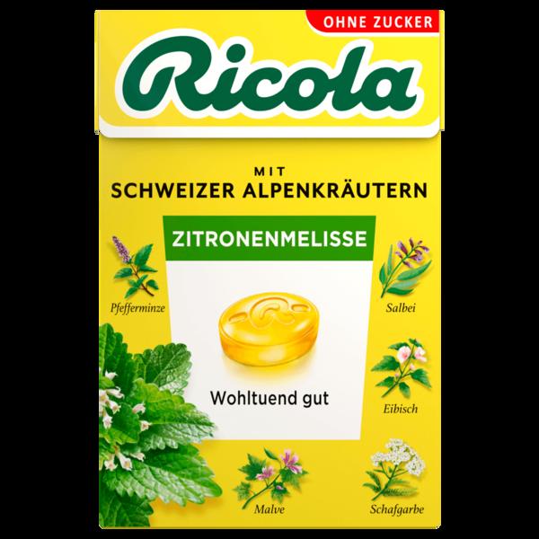 Ricola Halsbonbons Zitronenmelisse zuckerfrei 50g