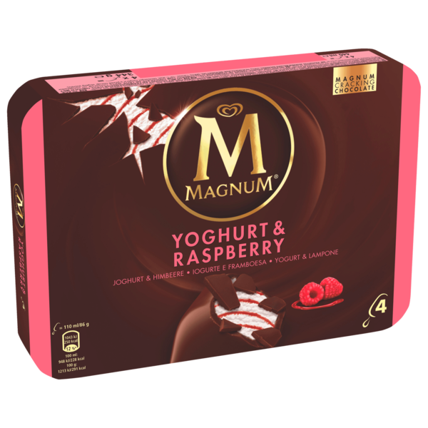 magnum yoghurt fresh familienpackung eis 4x110ml bei rewe online bestellen. Black Bedroom Furniture Sets. Home Design Ideas