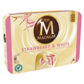 Magnum Strawberry White Familienpackung Eis 4x110ml