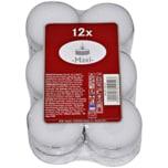 Maxi Teelichter weiß 12 Stück