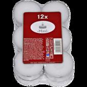 Teelichter Maxi weiß 12 Stück