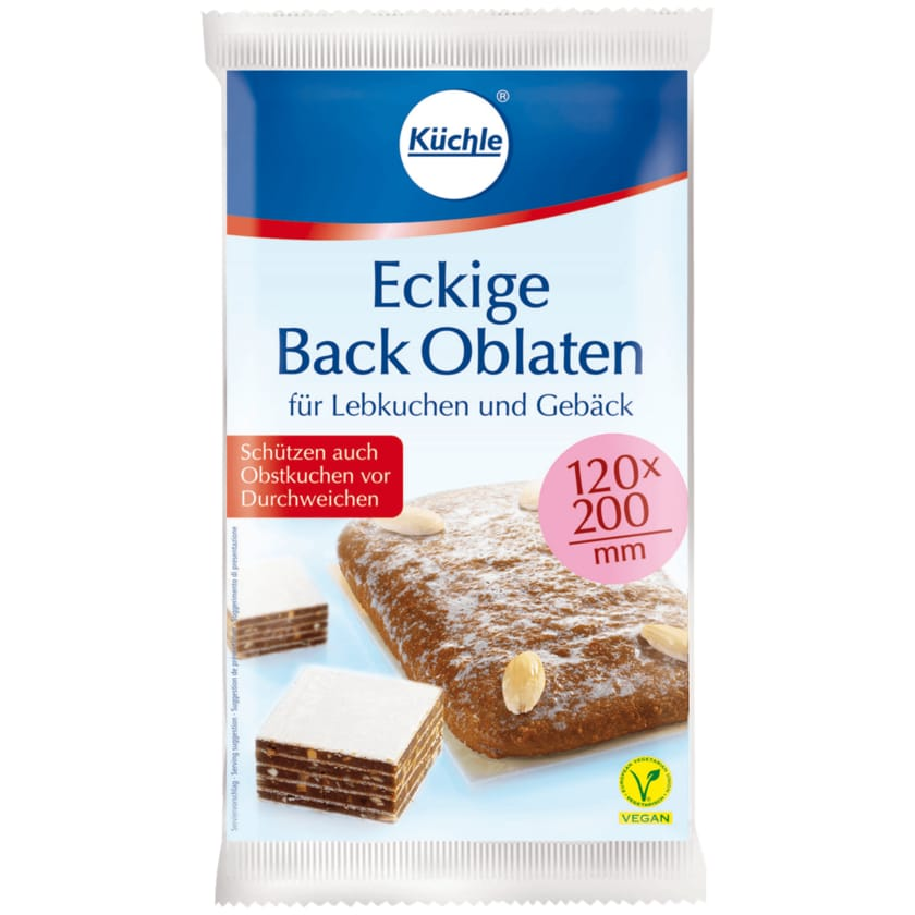Küchle Eckige Back-Oblaten 53g