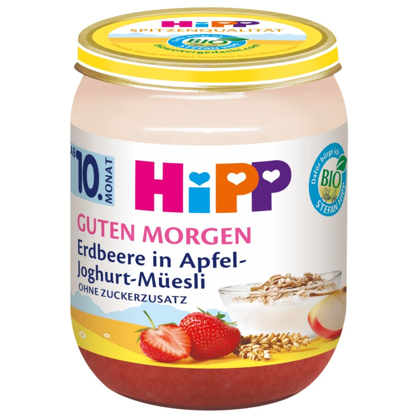 Hipp Guten Morgen Bio Erdbeere in Apfel-Joghurt-Müsli 160g