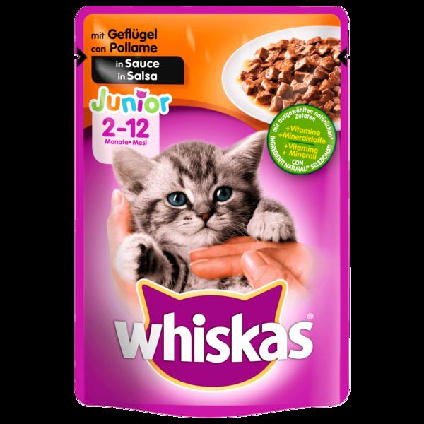 Whiskas Junior mit Geflügel in Sauce 100g