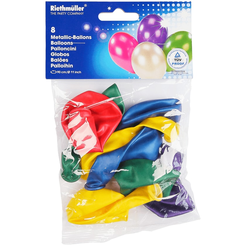 Riethmüller Metallicballons 8 Stück
