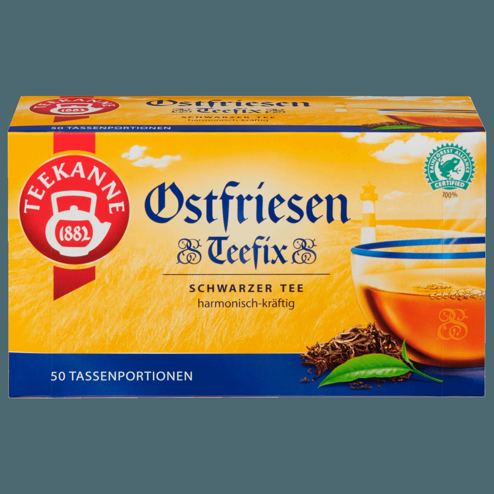 Teekanne Ostfriesen Teefix 75g, 50 Beutel