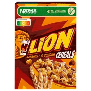 Nestlé Lion Cereals Karamell und Schoko Cerealien mit Vollkorn 400g