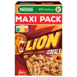 Nestlé Lion Cereals Karamell und Schoko Cerealien mit Vollkorn 675g