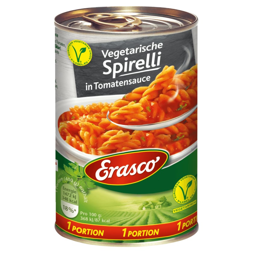 Erasco Spaghetti in Tomatensauce 400g