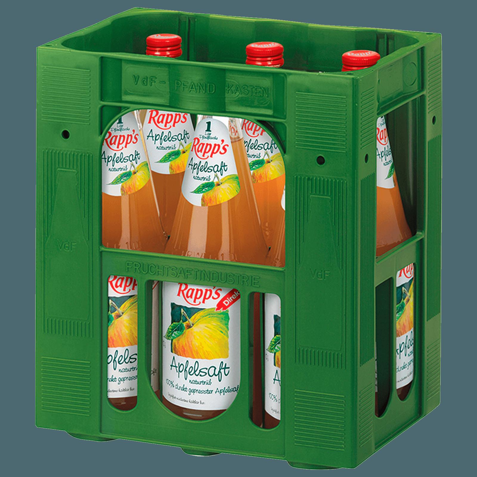 Rapp\'s Apfelsaft naturtrüb 6x1l bei REWE online bestellen!