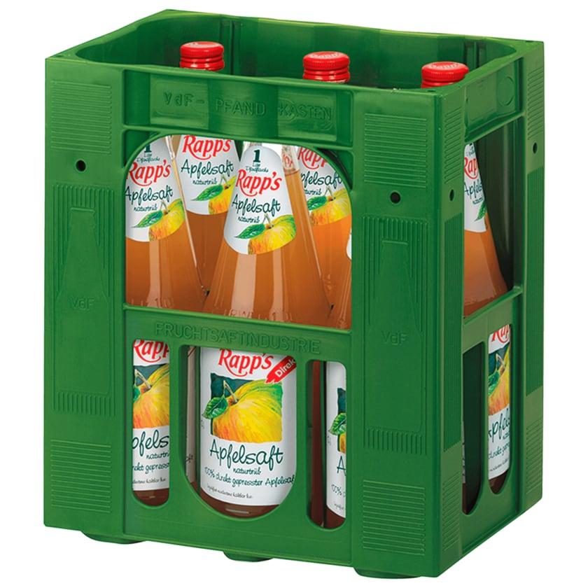 Rapp's Apfelsaft naturtrüb 6x1l
