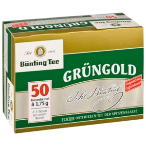 Bünting Tee Grüngold 90g, 50 Beutel
