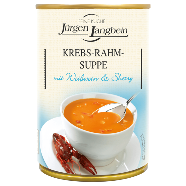 Jürgen Langbein Krebs-Rahm-Suppe 400ml