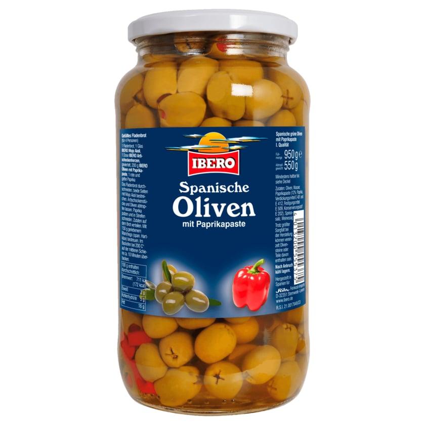 Ibero Grüne Oliven mit Paprikapaste 550g