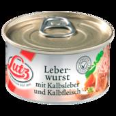 Kalbsleberwurst nach traditioneller Rezeptur.