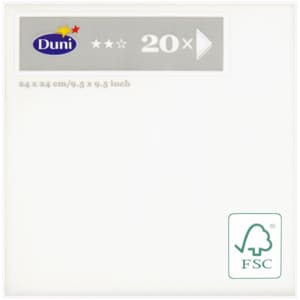 Duni Cocktail-Serv Uni 24 3lg 20er white