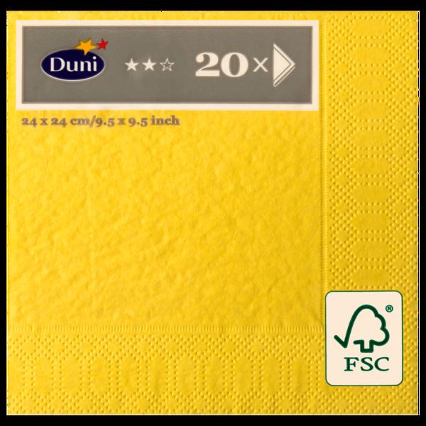 Duni Servietten Universal 3-lagig gelb 20 Stück