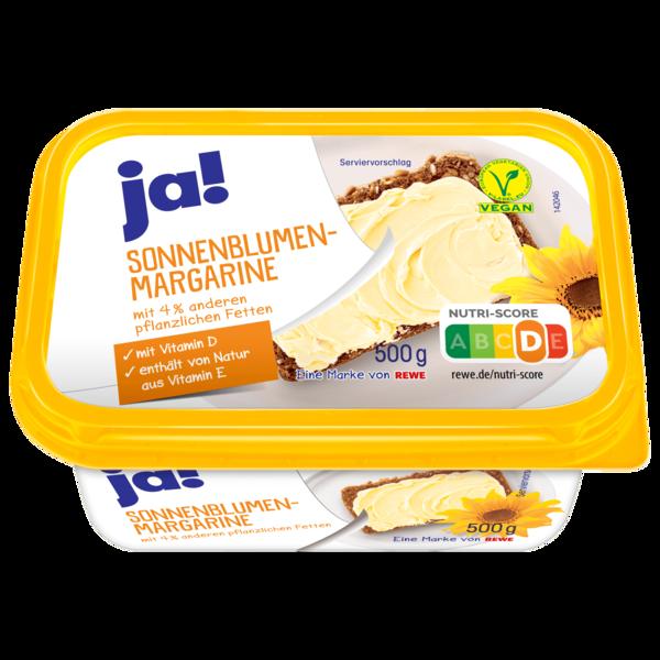 ja! Sonnenblumenmargarine 500g
