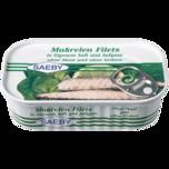 Saeby Makrelen-Filets in eigenem Saft & Aufguss 88g