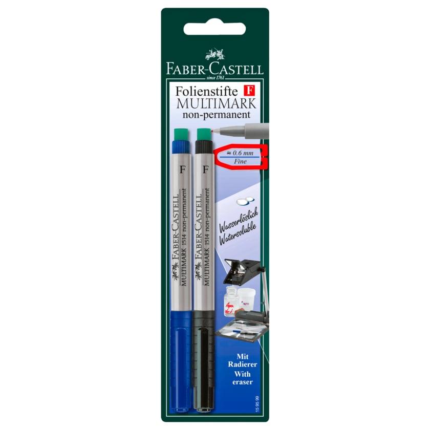 Faber-Castell Folienstifte Multimark non-permanent 2 Stück