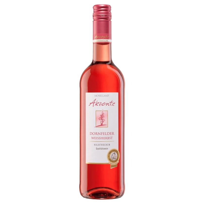 Moselland Rosé Akzente Dornfelder Weißherbst halbtrocken 0,75l