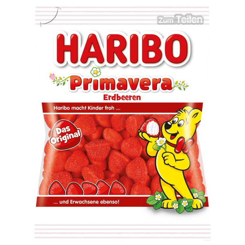 Haribo Fruchtgummi Primavera Erdbeeren 200g