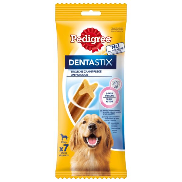 Pedigree Hundesnack Dentastix tägliche Zahnpflege für große Hunde 7 Stück