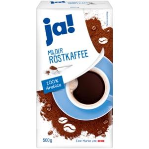 ja! Milder Röstkaffee gemahlen 500g
