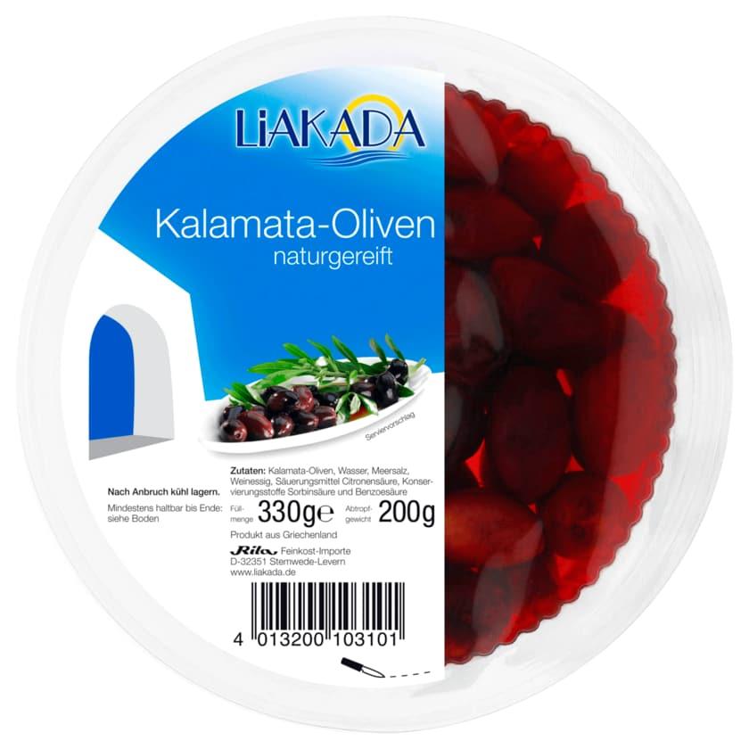 Liakada Schwarze Kalamata-Oliven 330g