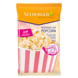 Seeberger Mikrowellen-Popcorn süß 100g