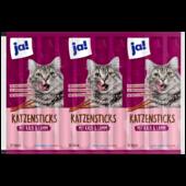 ja! Feine Katzensticks mit Kalb & Lamm 10 Stück