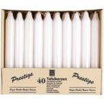Tafelkerzen weiß 40 Stück